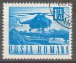 Stamps : Europe : Romania :  RUMANIA_SCOTT 1977 HELICOPTERO. $0.2