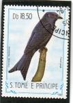 Sellos del Mundo : Africa : Santo_Tomé_y_Principe : AVES.  DICRURUS  MODESTUS