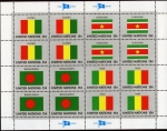 Sellos de America - ONU -  Banderas