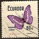 Sellos del Mundo : America : Ecuador : Mariposas-Morpho cypris