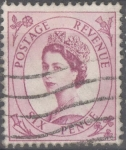 Stamps United Kingdom -  REINO UNIDO_SCOTT 362.03 REINA ISABEL. $0.25