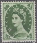 Stamps United Kingdom -  REINO UNIDO_SCOTT 365 REINA ISABEL. $0.45