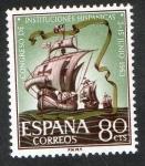 Stamps Spain -  1514- CONGRESO DE INSTITUCIONES  HISPANICAS. NAVES DE COLON.