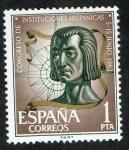 Stamps Spain -  1515- CONGRRESO DE INSTITUCIONES HISPANICAS.  COLON .