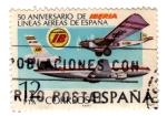 Stamps : Europe : Spain :  lineas aereas de españa