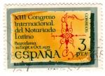 Stamps : Europe : Spain :  congreso internacional del notariado latino