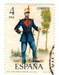 Sellos de Europa - España -  tambor mayor de infanteria