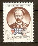 Stamps Hungary -  JOSÈ  MARTÌ  Y  BANDERA  DE  CUBA