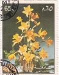 Sellos de Asia - Emiratos Árabes Unidos -  flores