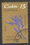 Sellos del Mundo : America : Cuba : XXV anivº del Ballet Nacional