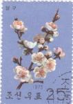 Stamps North Korea -  flores