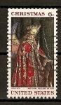 Stamps United States -  Navidad 68