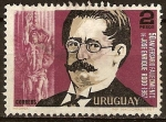 Sellos del Mundo : America : Uruguay : 50 Aniv.Fallecimiento de J.Enrique Rodo 1967