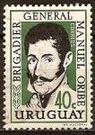 Sellos del Mundo : America : Uruguay : Brigadier General Manuel Oribe