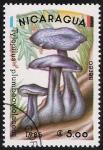 Sellos del Mundo : America : Nicaragua : SETAS-HONGOS: 1.201.006,01-Tylopilus plumbeoviolaceus -Dm.985.15-Y&T.A1087-Mch.2566-Sc.1408
