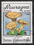 Sellos del Mundo : America : Nicaragua : SETAS-HONGOS: 1.201.016,00-Cantharellus cibarius