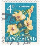 Stamps New Zealand -  flores