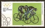 Sellos de Europa - Alemania -  XXII-Juegos olimpicos 1980 Moscu. Sprint (dos ciclistas) (DDR)