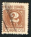 Stamps : Europe : Spain :  815- ESTADO ESPAÑOL- CIFRAS.
