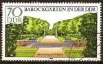 Sellos del Mundo : Europa : Alemania : Jardines barrocos.Parque del castillo en Rheinsberg (DDR)