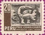 Sellos de America - Perú -  Pro Chan-Chan - Pelícano en Alto Relieve.