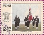 Sellos de America - Perú -  Escuela de Oficiales. Escuela Naval - La Punta.
