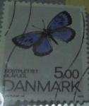 Sellos de Europa - Dinamarca -  SELLO POSTAL mariposa azul DINAMARCA 1993
