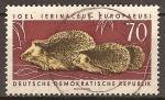 Sellos de Europa - Alemania -  Utiles animales protegidos-erizos (Erinaceus europaeus) DDR.