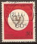 Sellos del Mundo : Europa : Alemania : Unicef,premio nobel de la paz.