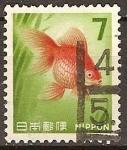 Sellos del Mundo : Asia : Japón : goldfish-pez rojo.