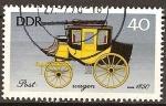 Sellos del Mundo : Europa : Alemania : Carruajes antiguos (carruaje de correos del año 1850) DDR.