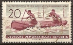 Sellos de Europa - Alemania -  Campeonato del Mundo de slalom en canoa y piragüismo 1961 (DDR)