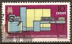 Sellos de Europa - Alemania -  Leipzig Feria de Primavera 1966.Electrónica de computación (DDR)