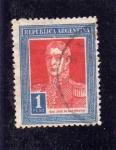 Stamps Argentina -  San Martín con punto