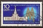 Sellos de Europa - Alemania -  50a de la Unión Soviética en la Feria de primavera de 1972 en Leipzig(DDR).