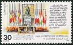Stamps Spain -  Ingreso de Portugal y España en la Comunidad Europea