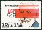 Stamps Spain -  I Centenario de la Unión General de Trabajadores