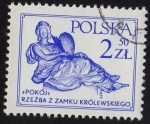 Stamps Europe - Poland -  >POKÓJ< RZEZBA Z ZAMKU KRÓLEWSKIEGO