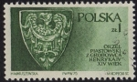Stamps of the world : Poland :  ORZEL PIASTOWSKI Z GROBOWCA HENRYKA IV S. XIV
