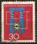 Sellos de Europa - Alemania -  100a.Principio de dinamoeléctricos(Werner von Siemens).