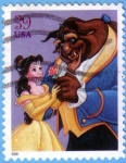 Stamps : America : United_States :  The Beauty & the Beast