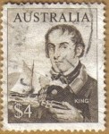 Sellos de Oceania - Australia -  KING
