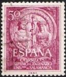 Stamps Spain -  VII Centenario Universidad de Salamanca