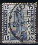 Sellos de Africa - Egipto -  Scott  71  Estatua de Ranses II