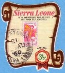 Stamps Africa - Sierra Leone -  Fifth anniversary worlds first free form self adhesives