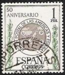 Stamps Spain -  L Aniversario de la Unión Postal de las Américas y España