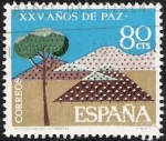 Stamps Spain -  XXV Añosde Paz Española