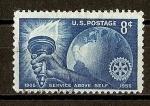 Sellos del Mundo : America : Estados_Unidos :  50 Aniversario del Rotary International.