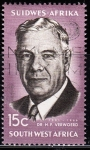 Stamps Africa - Namibia -  Dr. H.F. Verwoerd