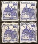 Sellos del Mundo : Europa : Alemania : Castillo Vischering en Lüdinghausen , Renania del Norte-Westfalia